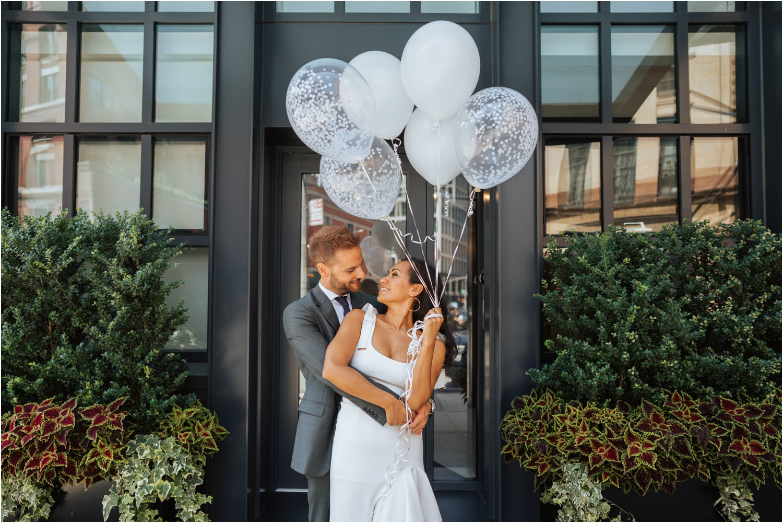 new york city city hall elopement balloons