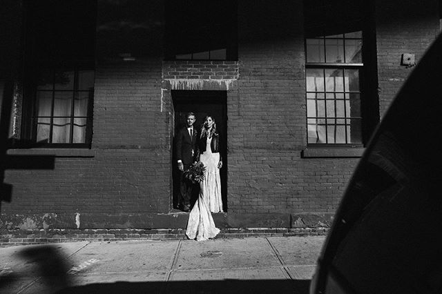 Something a little moody for these two. Lisa and Billy in Brooklyn, dressed to the nines was exactly as cool as they imagined. Moments, before they both said I do. . . . … . … . #blackandwhiteweddingphotography #dumbobrooklyn #brooklynbridgepark #offbeatbride #nycweddingphotographer #moodywedding