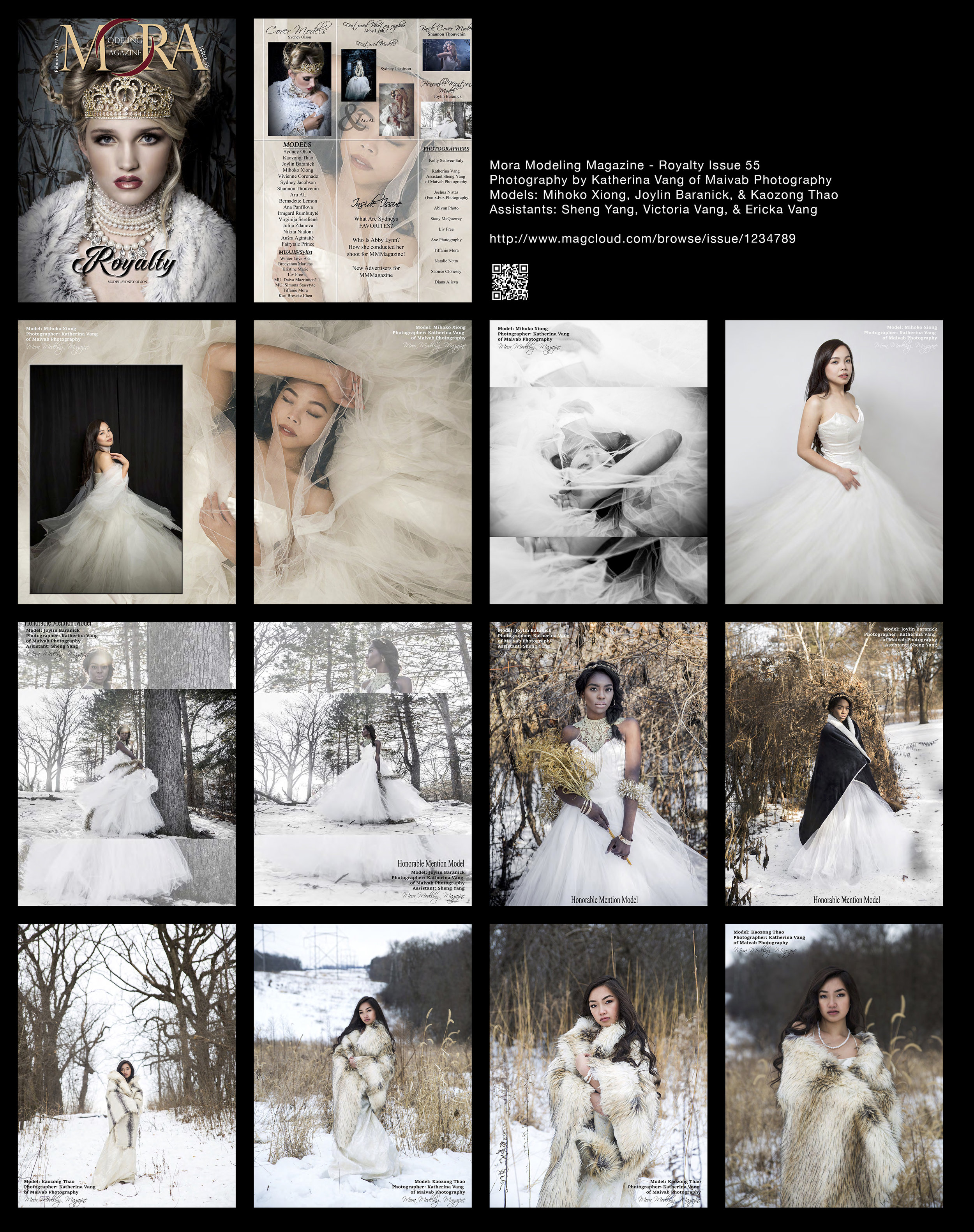 Mora Modeling Magazine - February 2017 Royalty Issue 55   http://www.magcloud.com/browse/issue/1234789