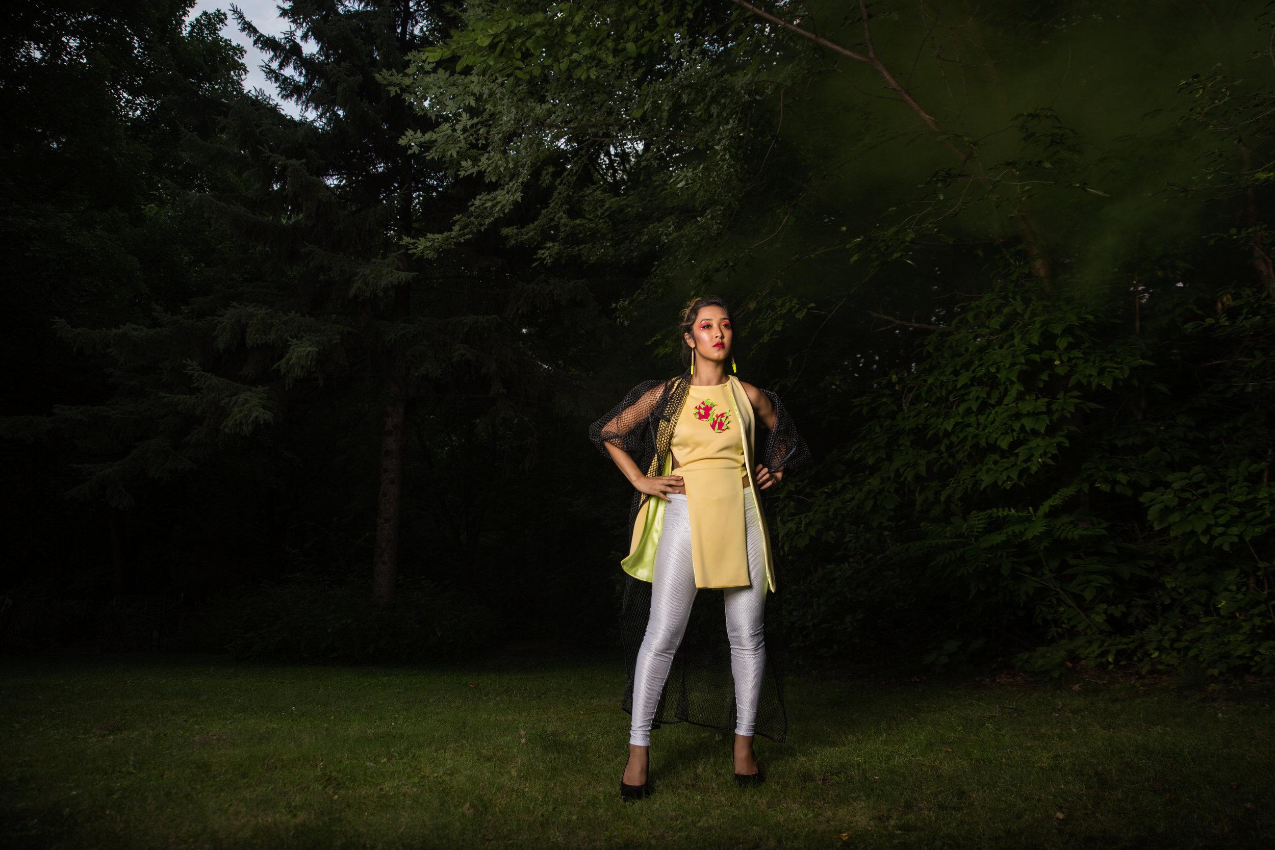 Designer: Oskar Ly of Os.Couture & Styling Model: Sophia Korm MUA & Hair: Mai Vue Photographer: Katherina Vang