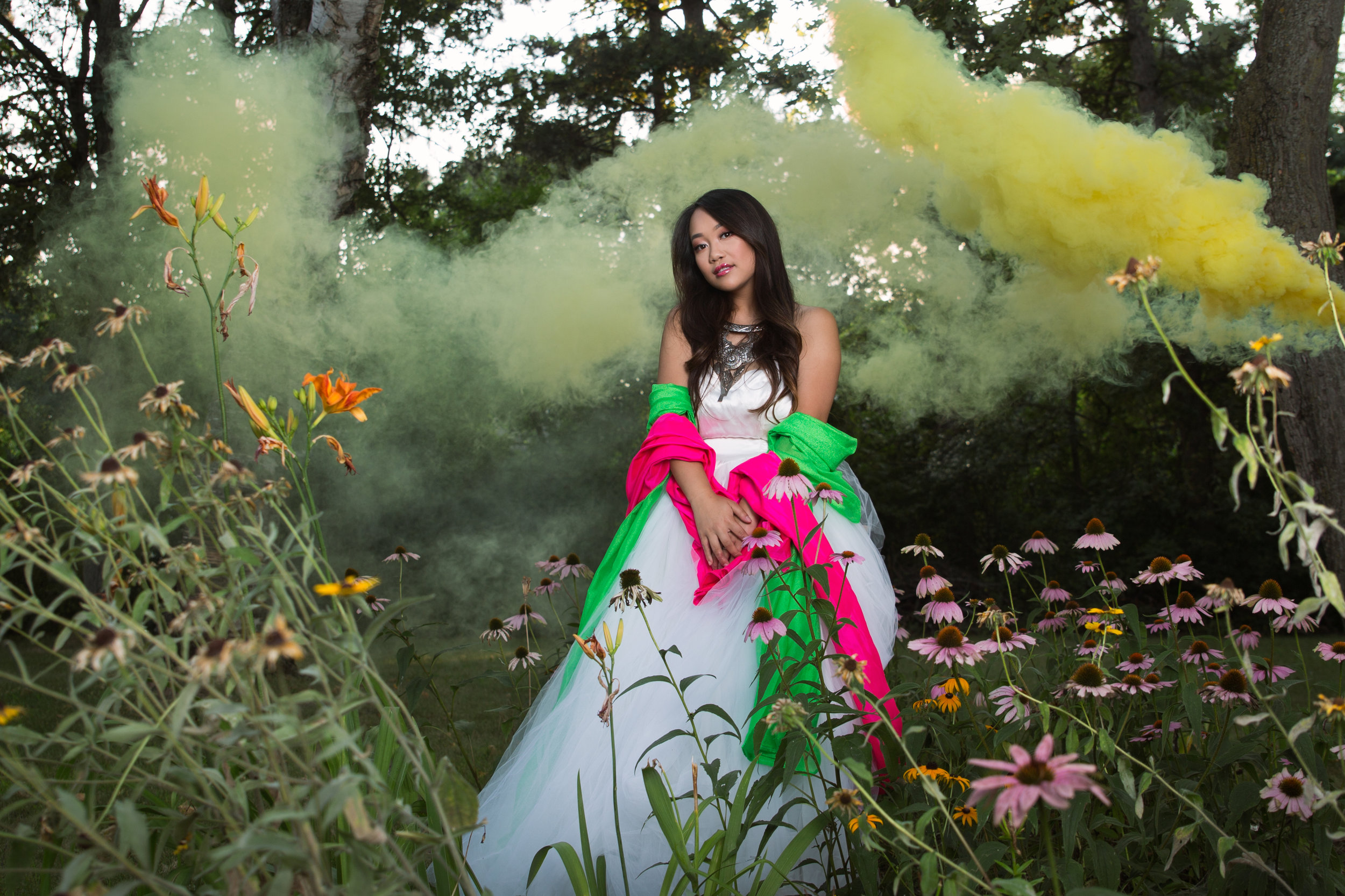 Model: Melanie Xiong MUA: Savanah Tsang Jewelry from Hmong ABC Photographer: Katherina Vang Assistant: Sayha Theng