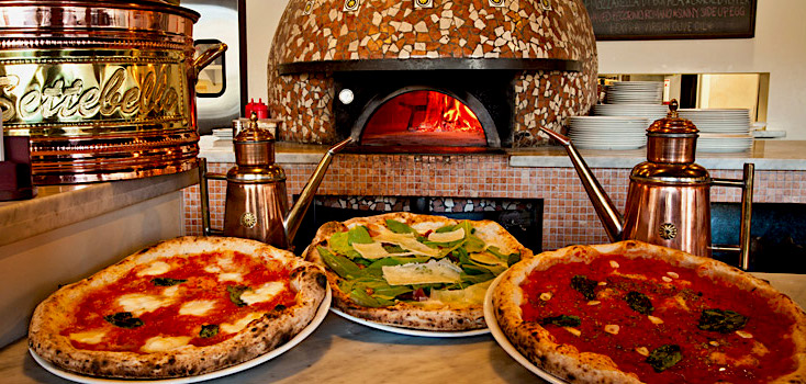 Delicious Pizza Napoletana is made with a soft dough and fresh ingredients!