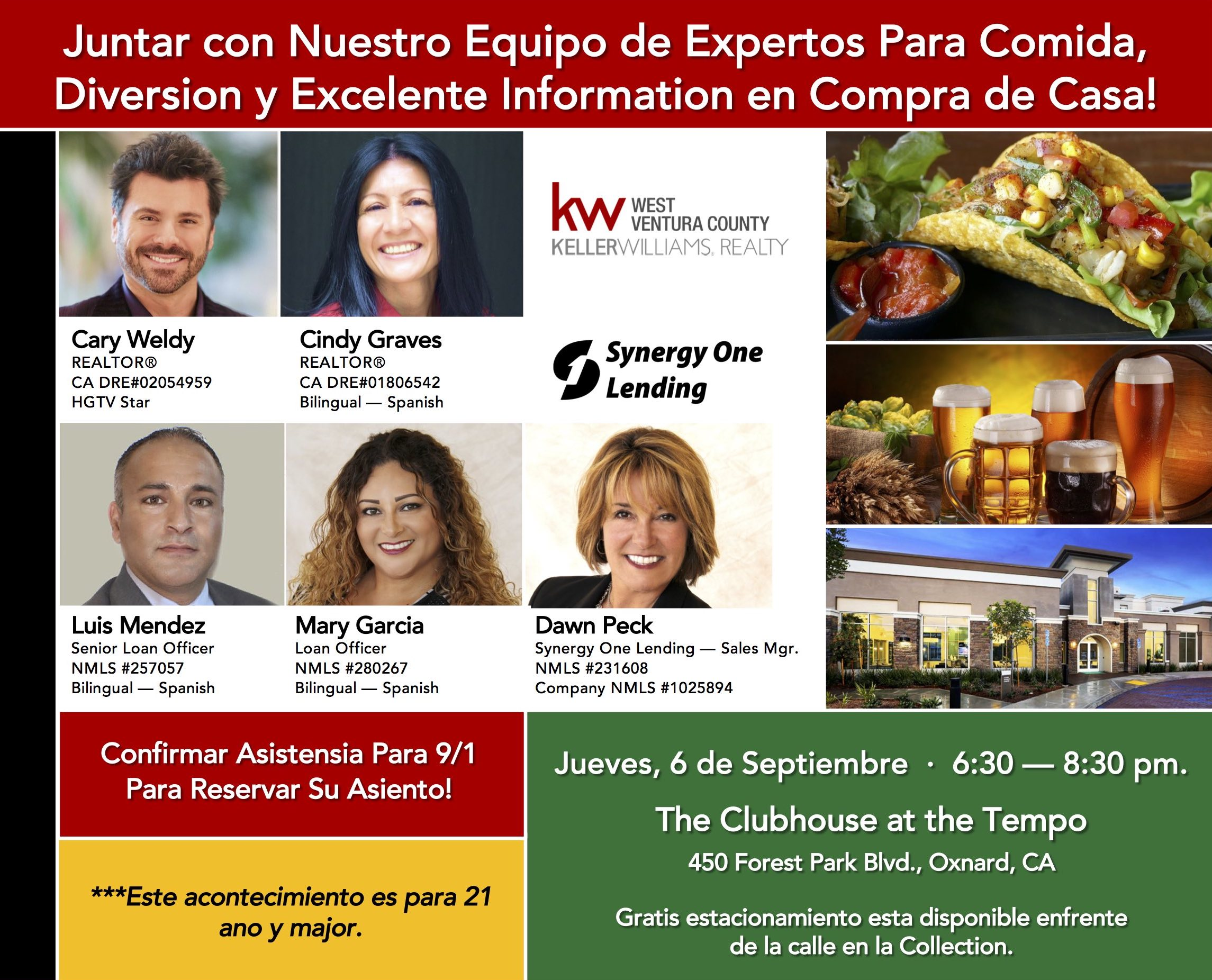 FOR WEBSITE ONLY — Back of postcard - Taco event on Sept. 6 - Spanish version.jpg