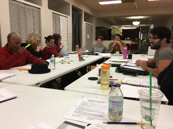 Around the table for the first read