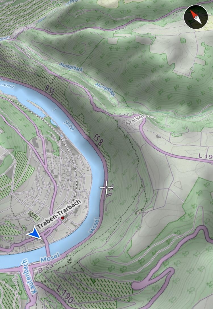 Karte von Traben-Trarbach und der Mosel