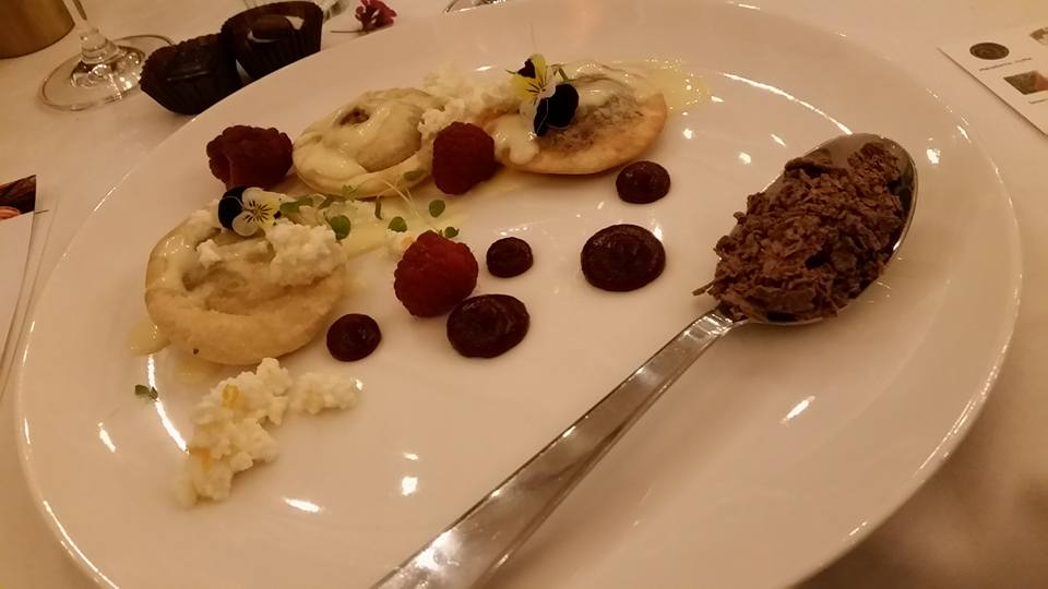 Plate and a Barrel Chococate event dessert