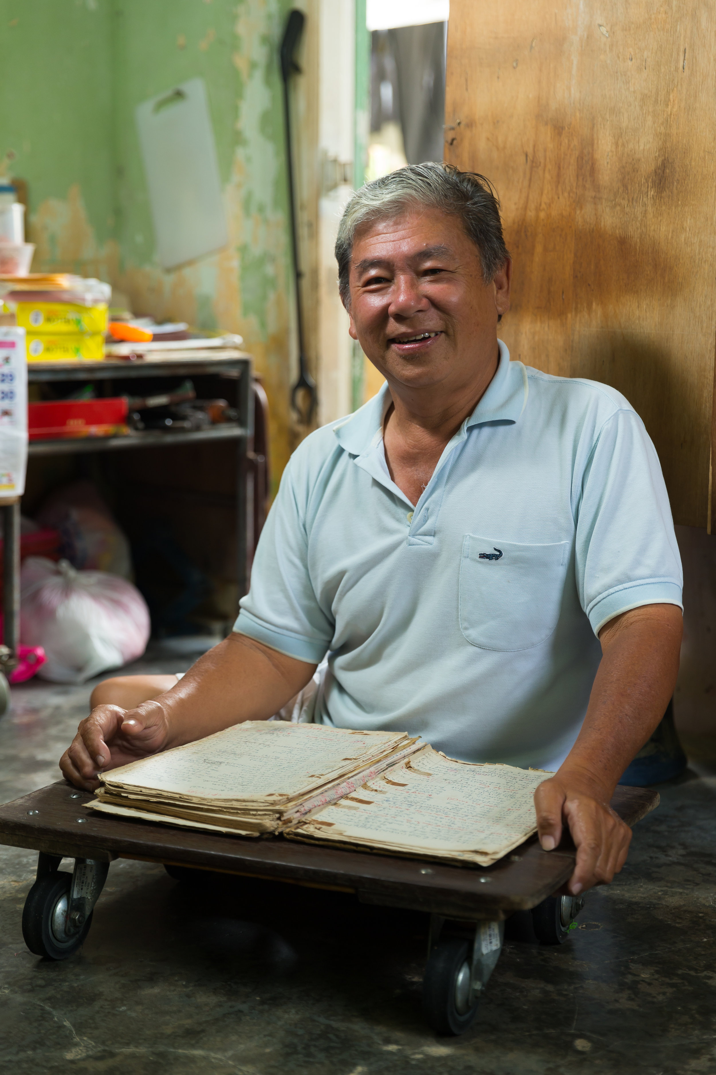 Philip Yong, the record keeper of the Valley of Hope. (photo by Mango Loke)