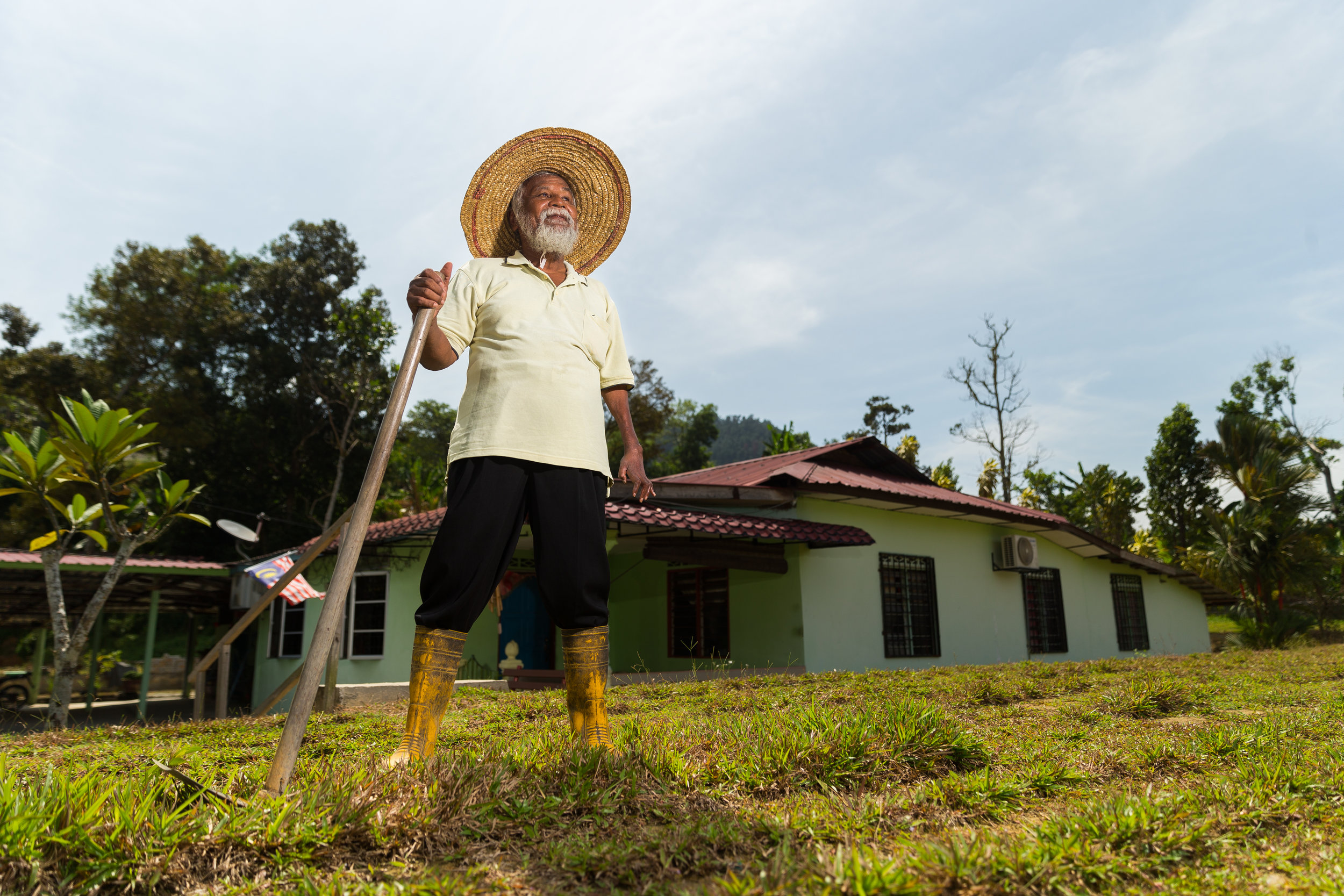He is the pioneer who helped establish Kampung Bahagia, Bukit Lagong. (photo by Mango Loke)