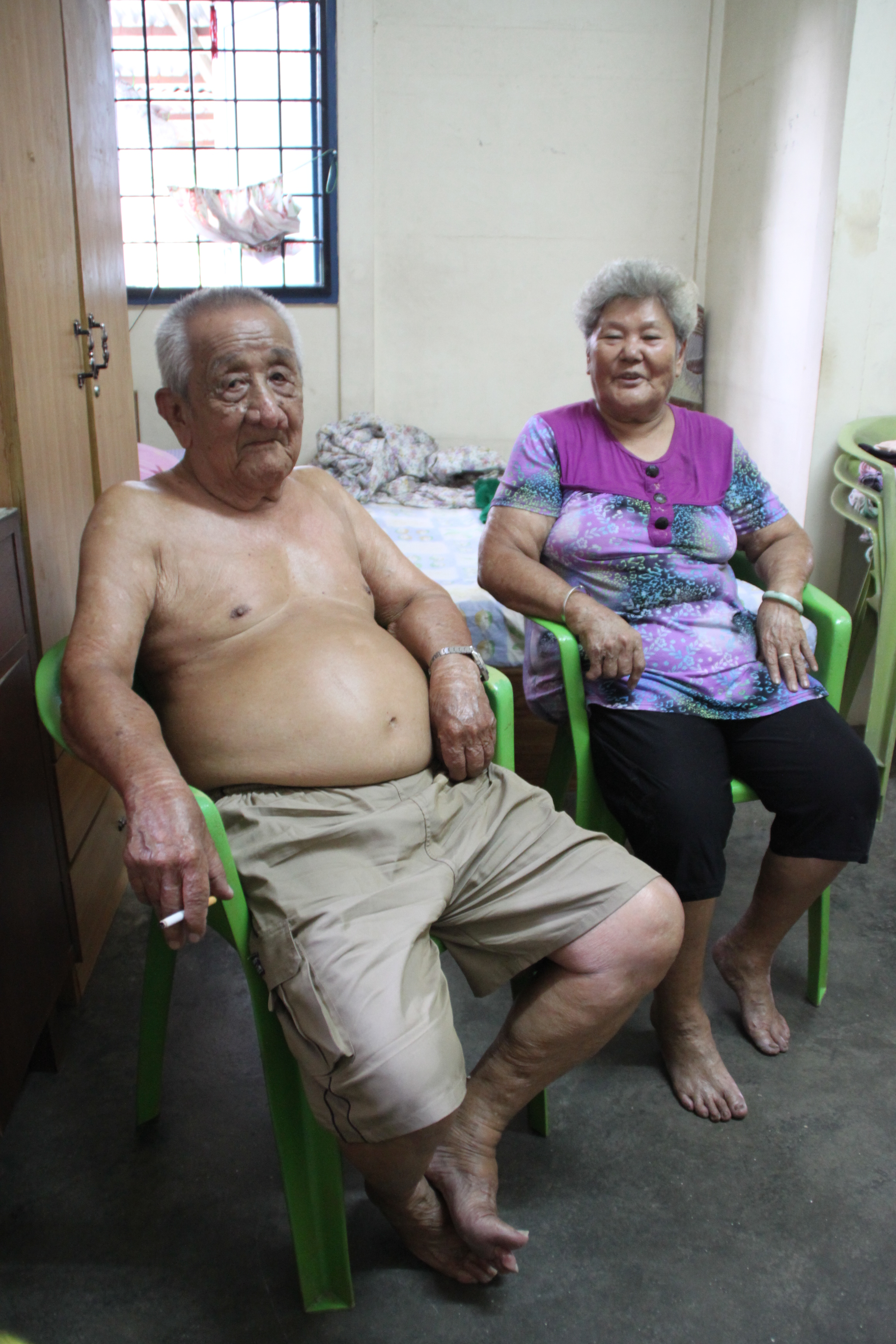 The loving couple staying at the marriage quarters at the Central Section. (photo by Tan EanNee)