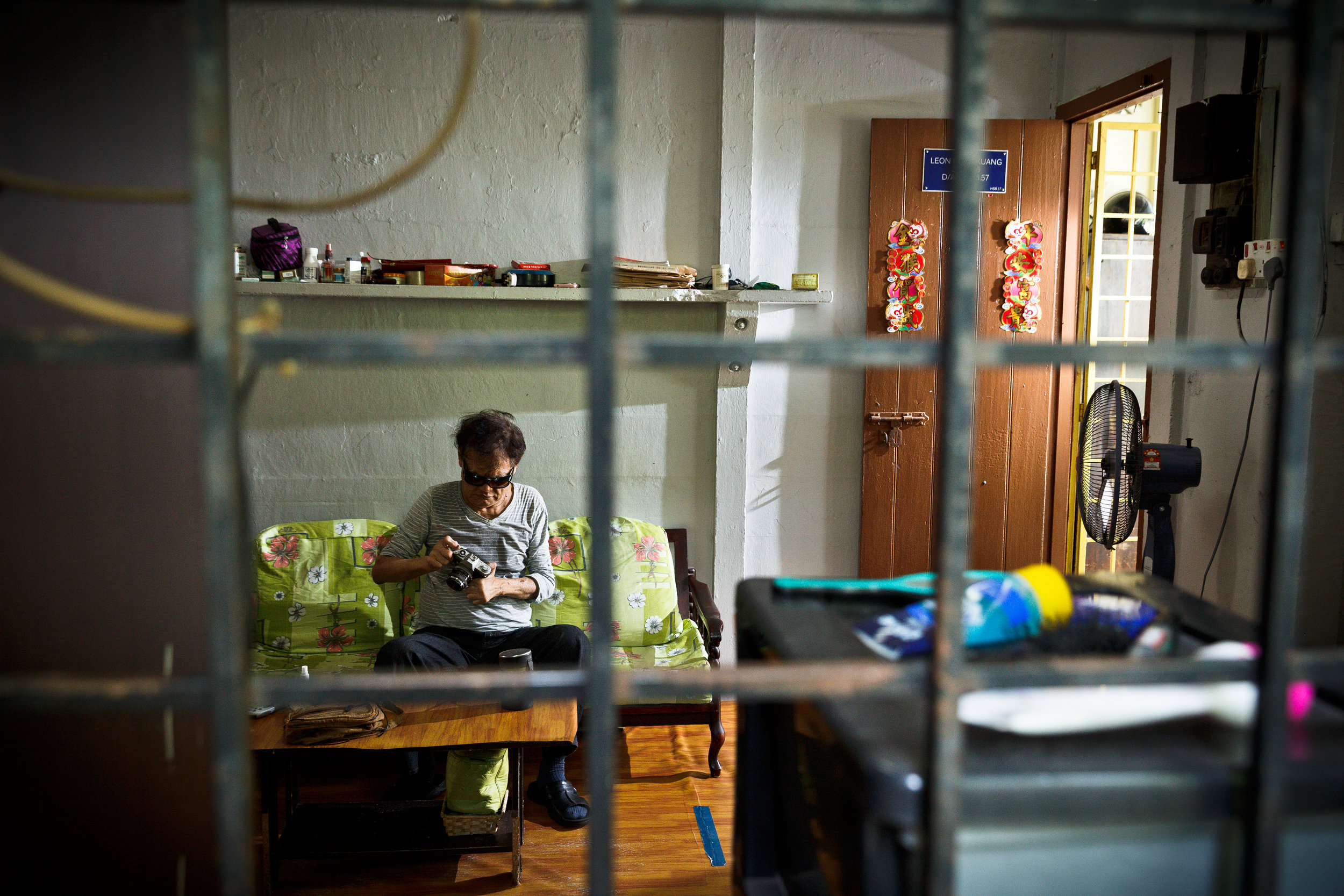 L eon Chee Kuang in his chalet at the Central Section. (photo by Mango Loke)