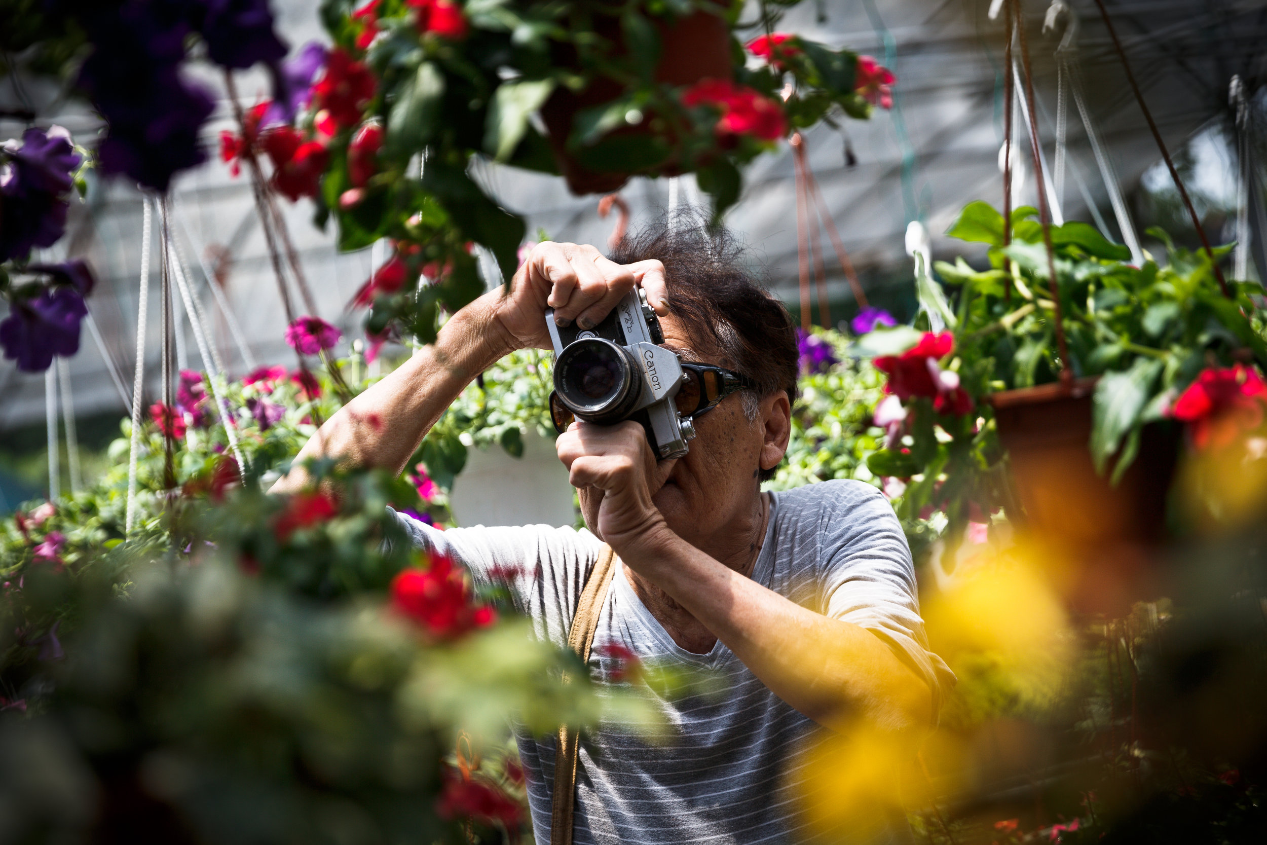 Leon likes taking photos when he was young. (photo by Mango Loke)