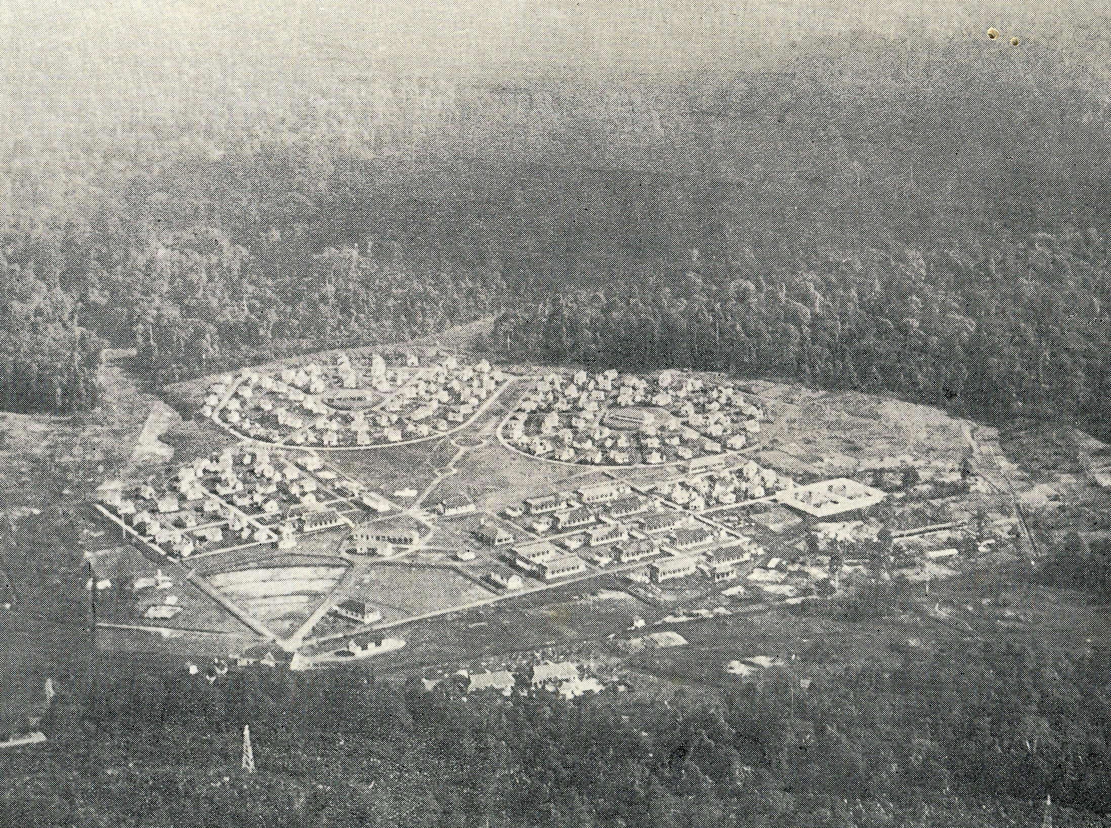 Aerial view of the Valley of Hope in the 1930s. (photo courtesy of Sungai Buloh Settlement Council)