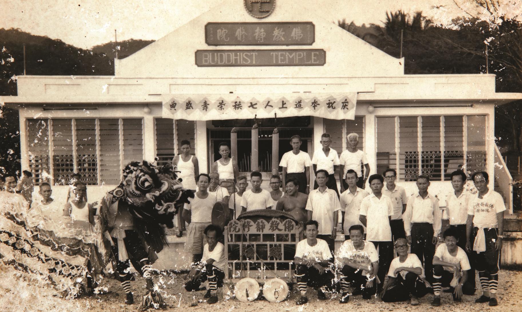 院民组团表演舞狮。(照片由双溪毛糯佛教静修院提供)