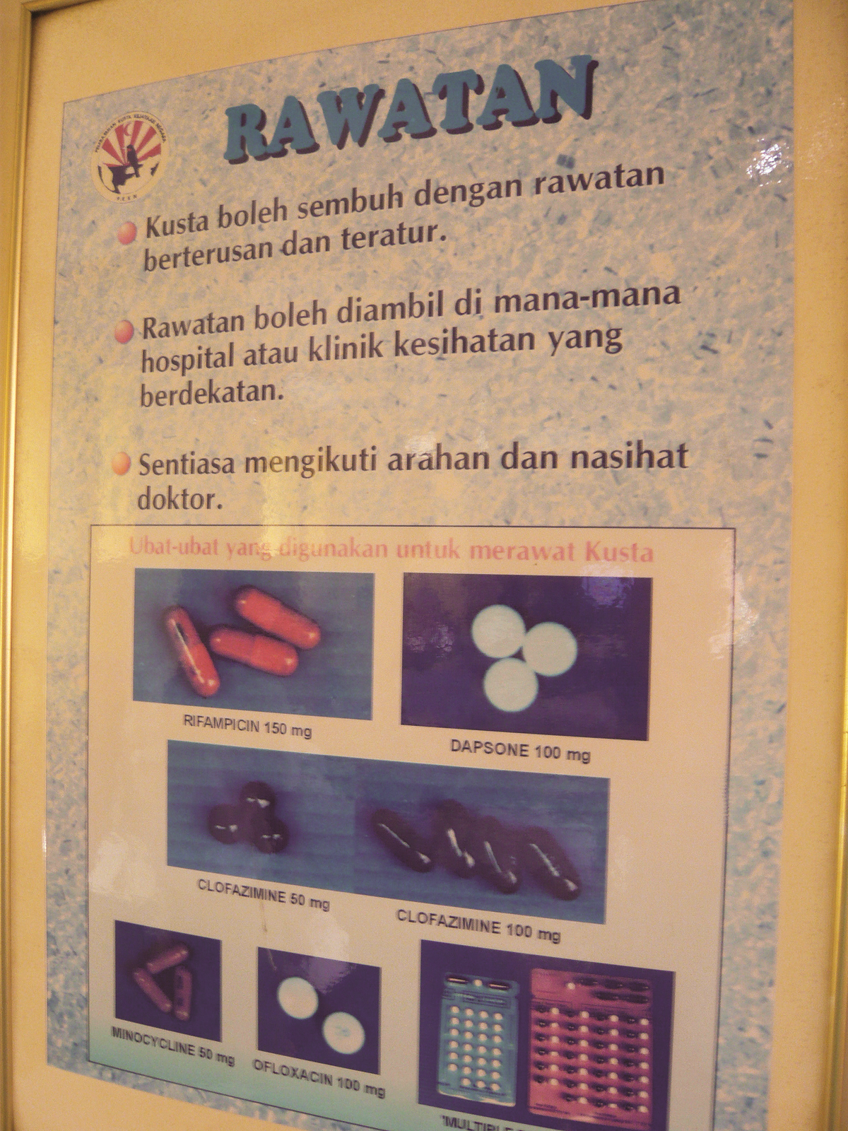 The Multi Drug Therapy, introduced in 1980s could effectively cure leprosy. (photo by Tan Ean Nee)