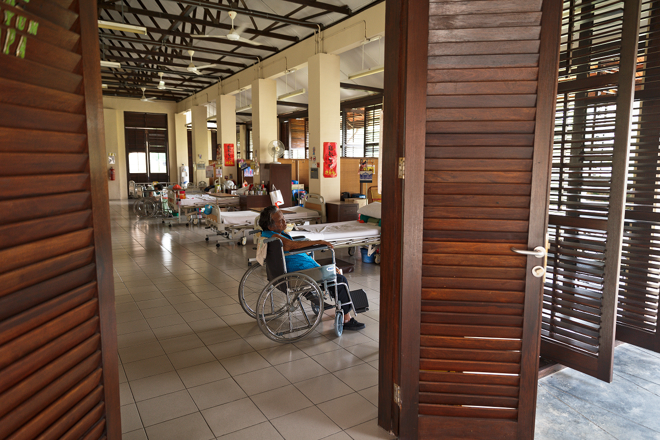 Today, the decrepit ward has become a home that provides long-term care for former leprosy patients. (photo by Mango Loke)