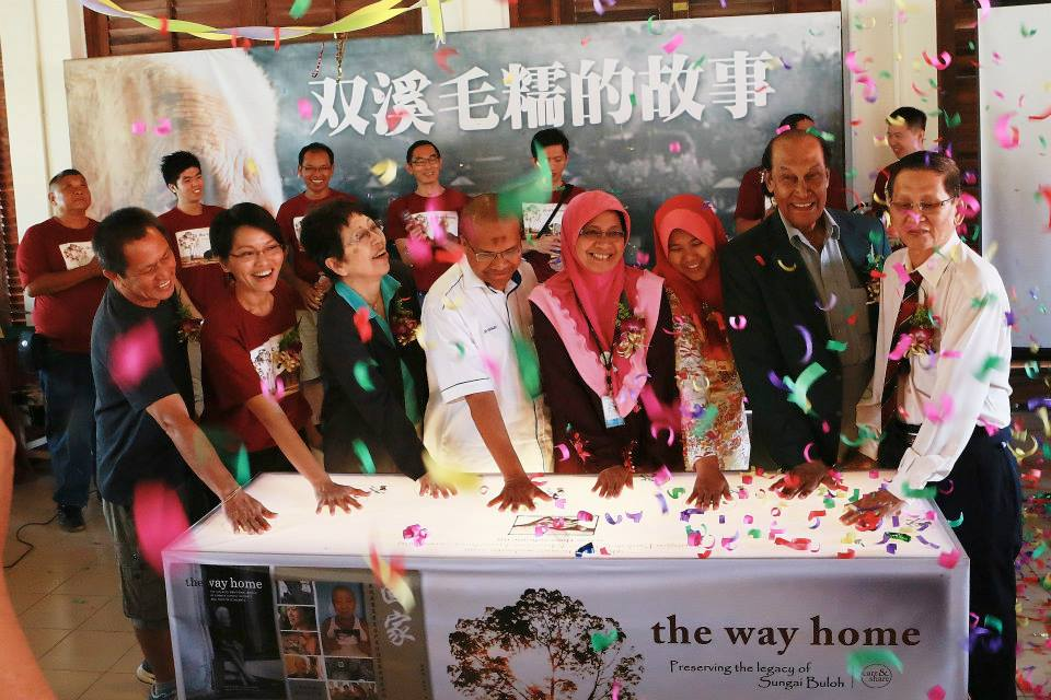 The launching ceremony of the Sungai Buloh Online Museum (www.thewayhome.my). (photo by Lim Mei Kim)
