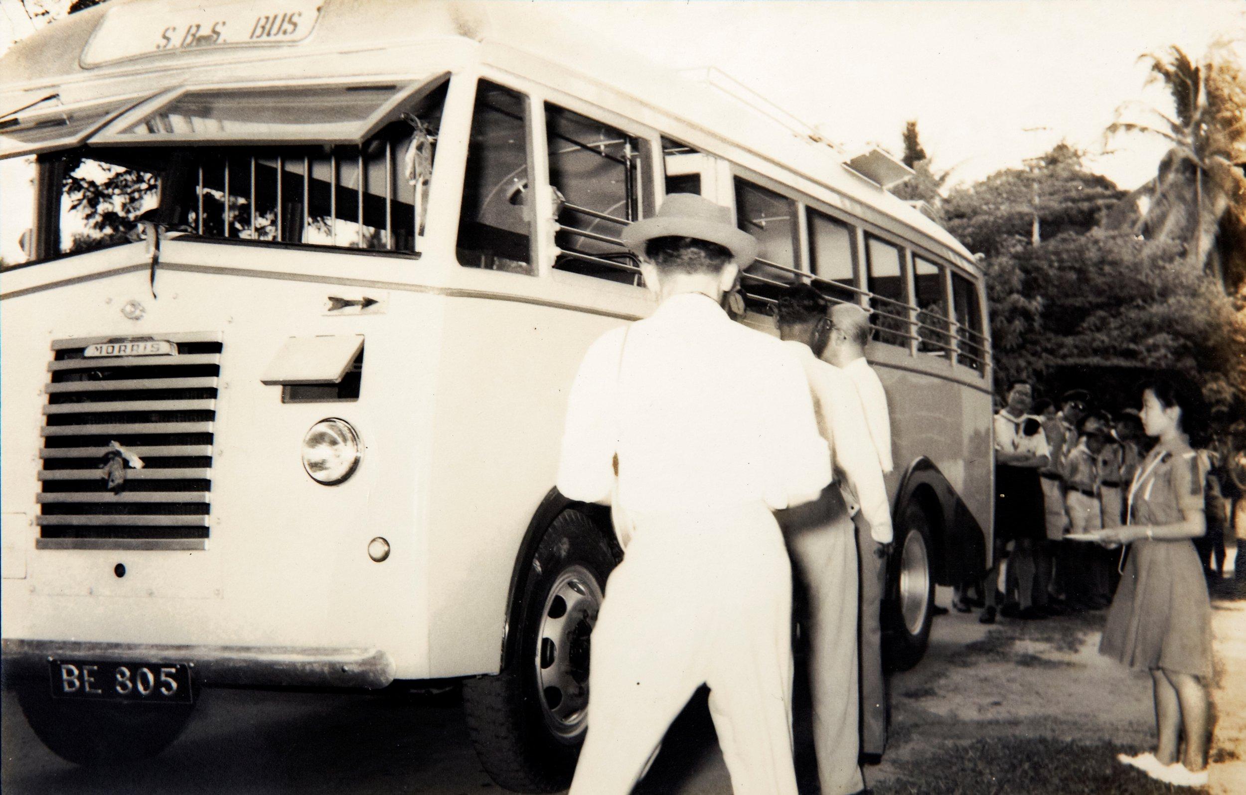 为院民提供交通便利的参议会巴士。(照片由双溪毛糯麻疯病院参议会提供)