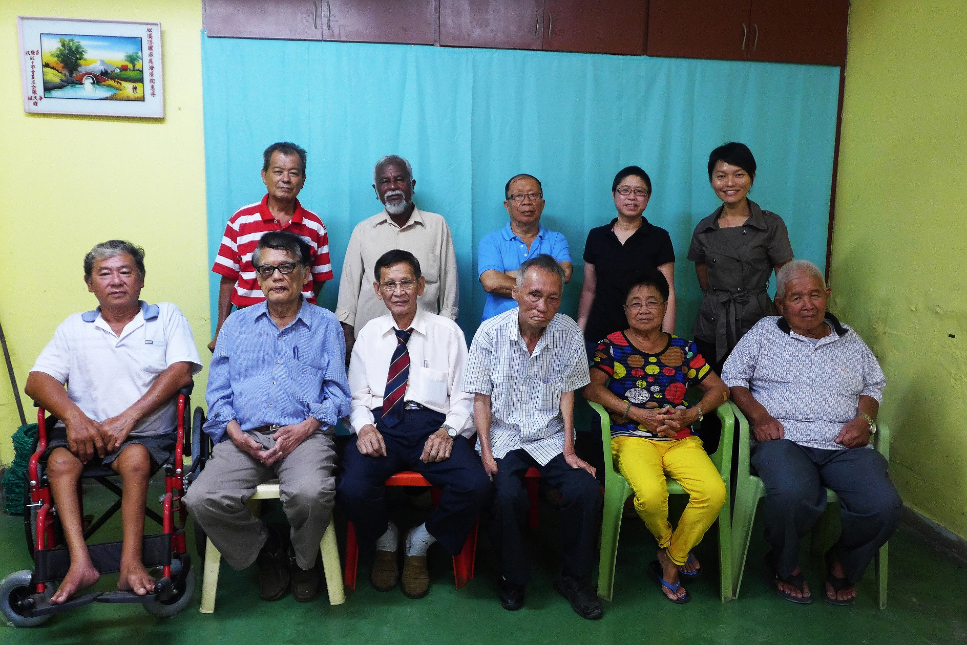 Committee of the Sungai Buloh Settlement Council, 2015. (photo by Lim Mei Kim)