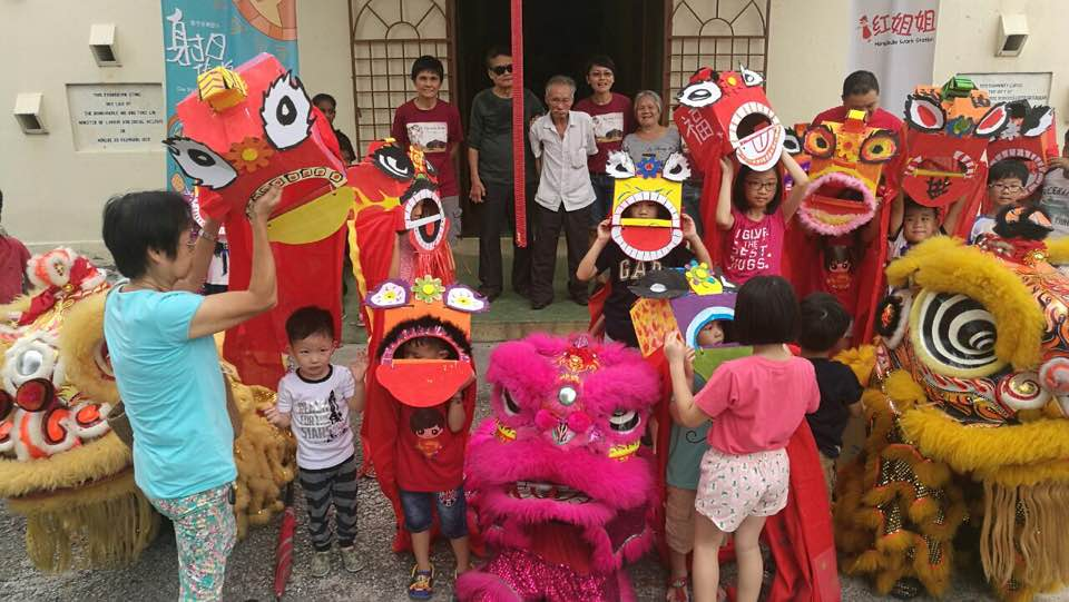 Lion dance performance during Chinese New Year at the Council Hall. (photo by Tee Khai Shuang)