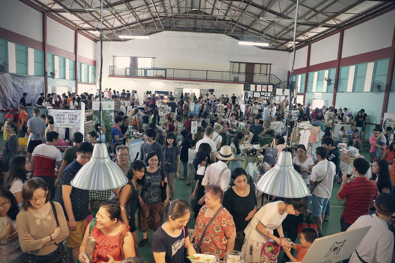 """""""Mari Market"""", organised by Just Life Sdn Bhd at the Council Hall. (photo by Teoh Chee Keong )"""