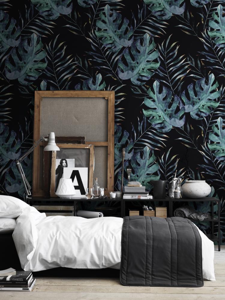 yaz-dekorasyon-trendi-koyu-renk-duvar-kağıdı
