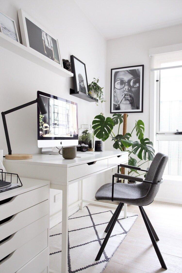 çalışma-odası-trendleri-yeşil-bitkiler