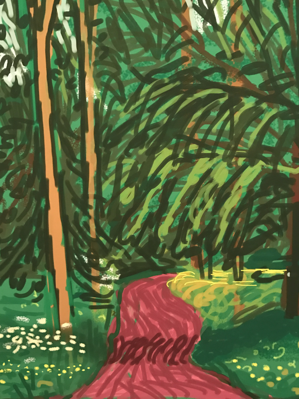 Nature was Hockney's muse