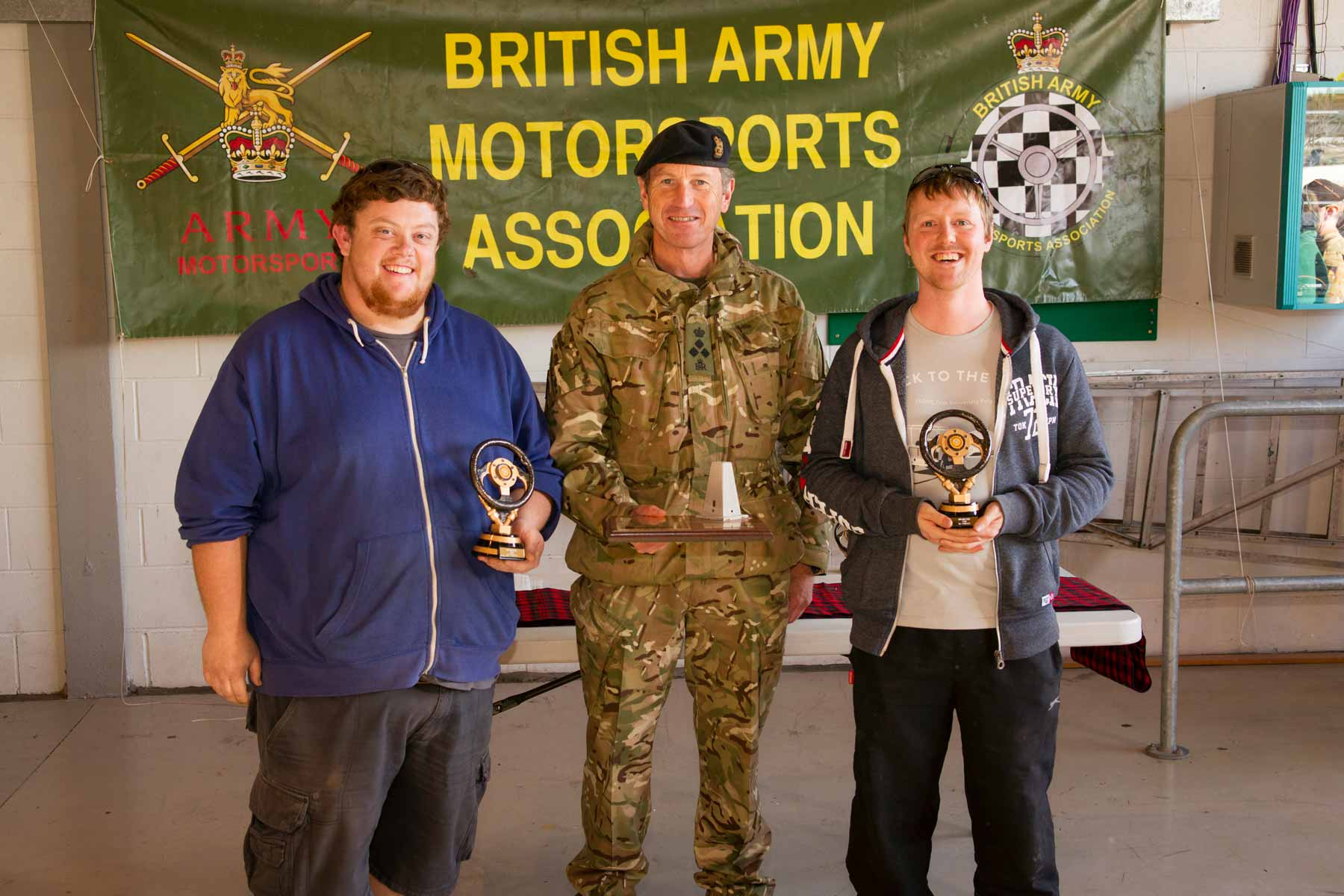 Winners Kevin Fulton and Alan Morrison