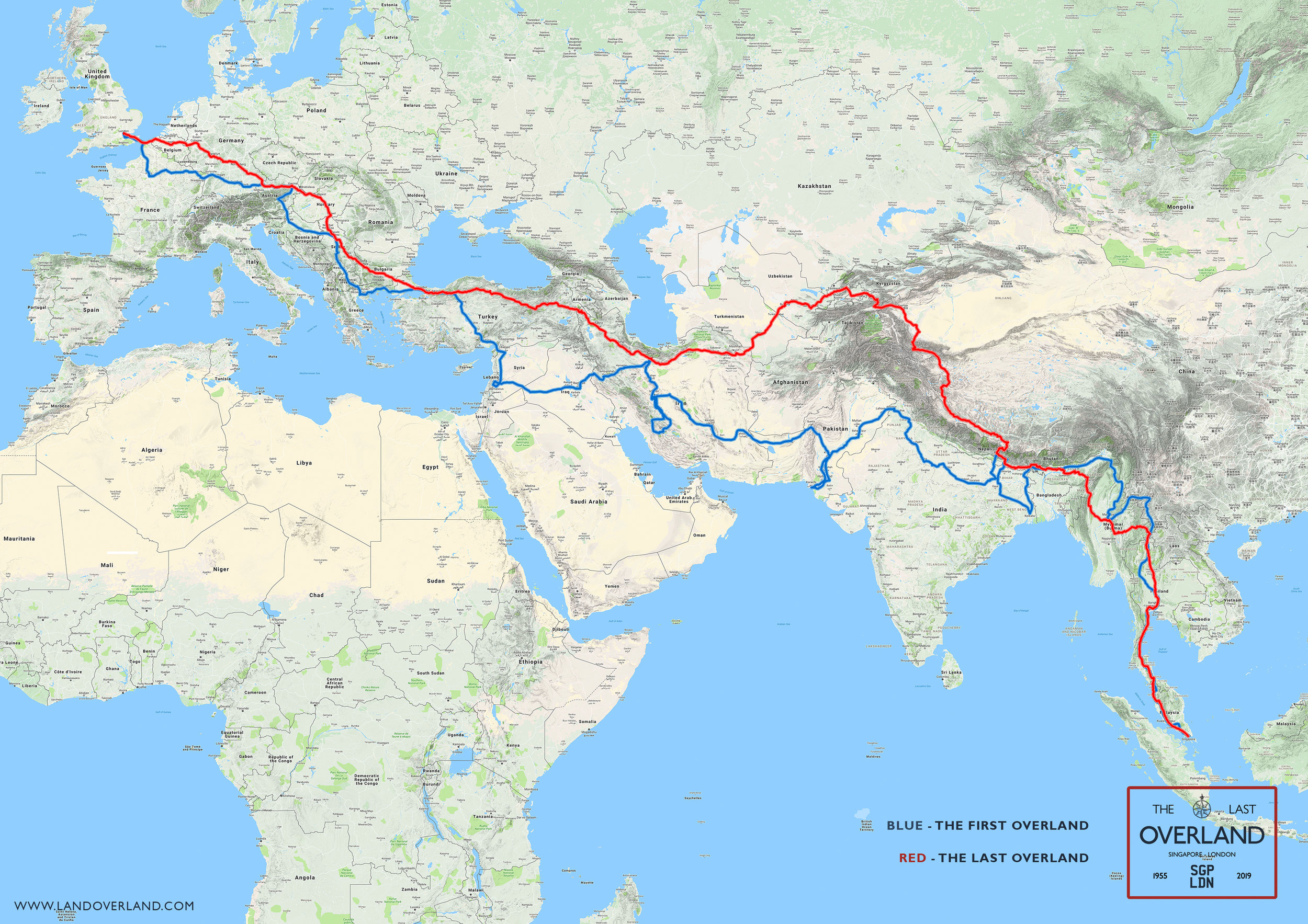 Last Overland route map
