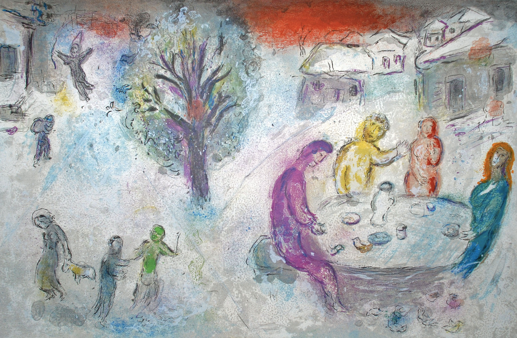 Marc Chagall,  The Meal at Dryas's House, from Daphnis and Chloe