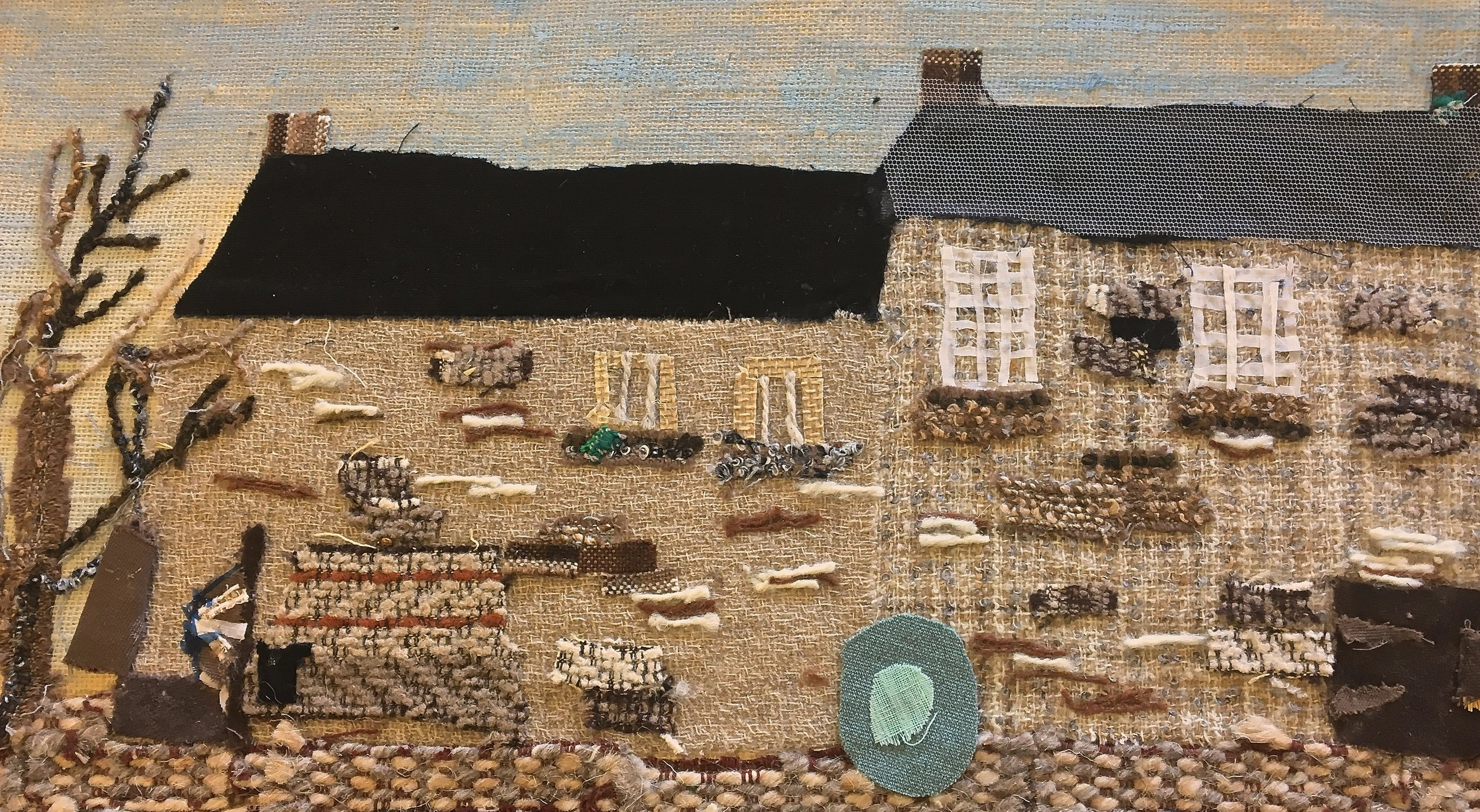 A collage of a West Riding of Yorkshire home, produced by a primary school pupil in the 1970s, and reproduced courtesy of the National Arts Education Archive.