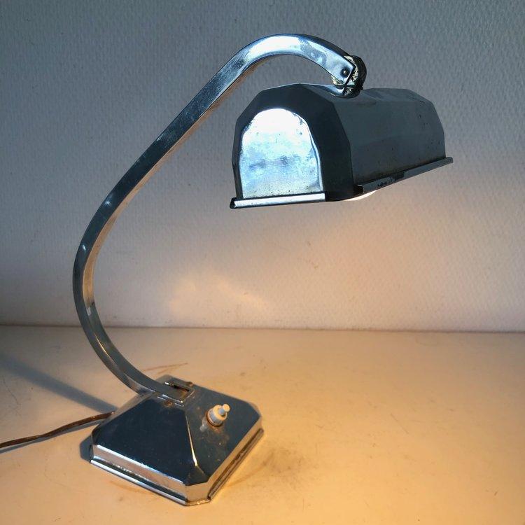 Vintage Kpzoiux Bureau 35cm De 1940 Lampe Chromée qGSUzMVp