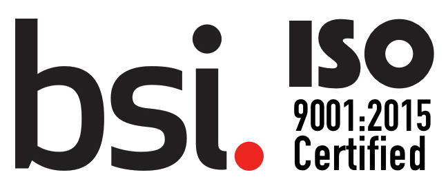 Certified by BSI as an ISO 9001:2015 organization