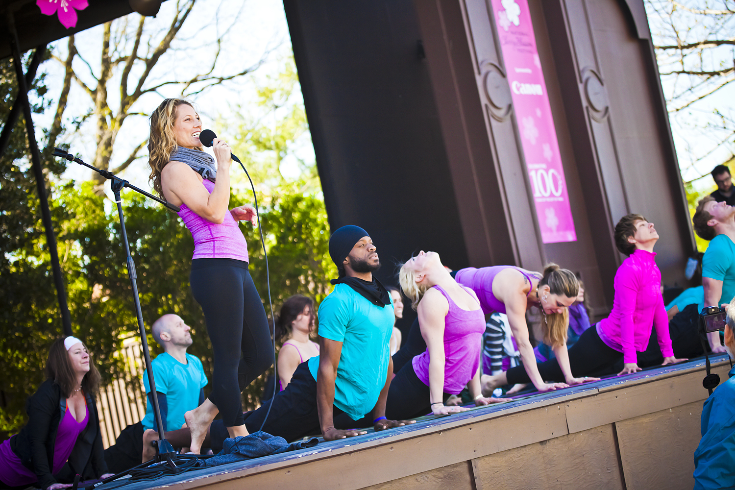Alison Adams Homegrow Power Yoga at Cherry Blossom Yoga on the Mall