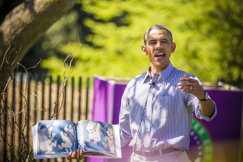 Barak Obama in Yoga Garden Homegrow Power Yoga