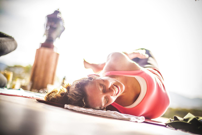 Alison Adams - Homegrown Power Yoga Assisting at Haramara Prenatal Mexico yoga retreat