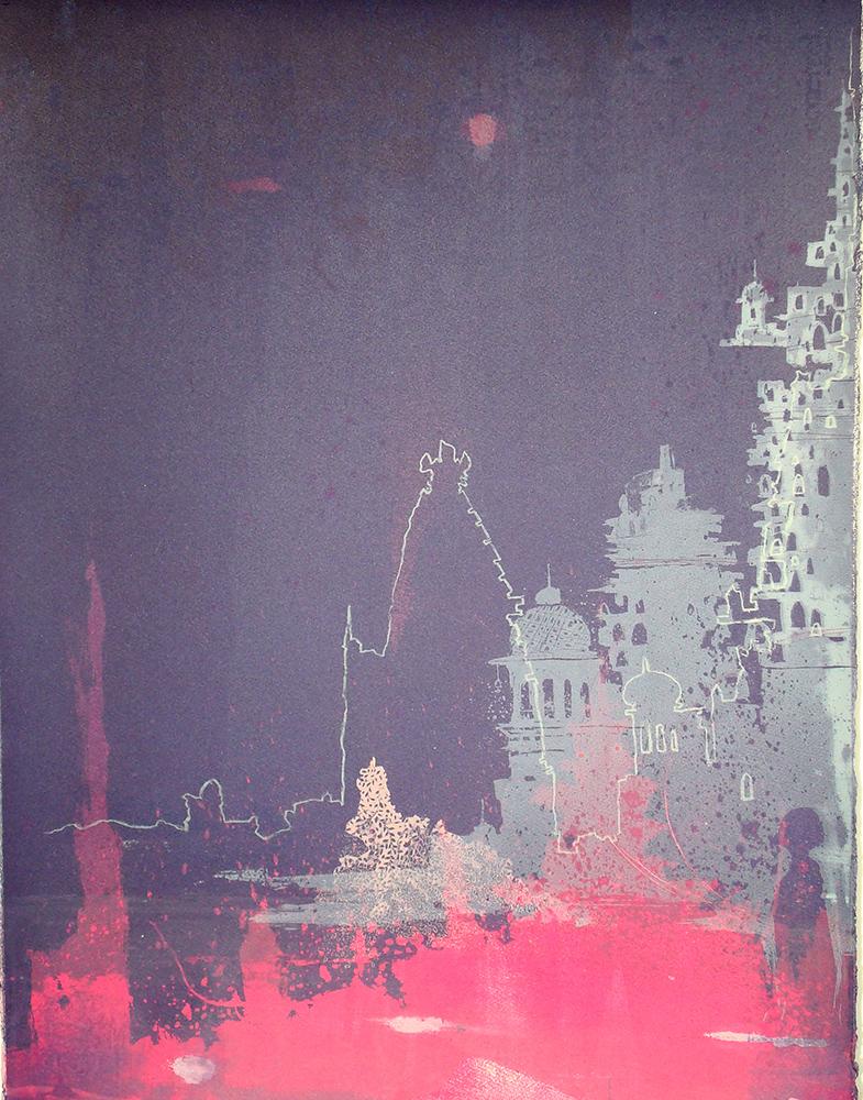 Night IIIOriginal Screen print by Chitra Merchant