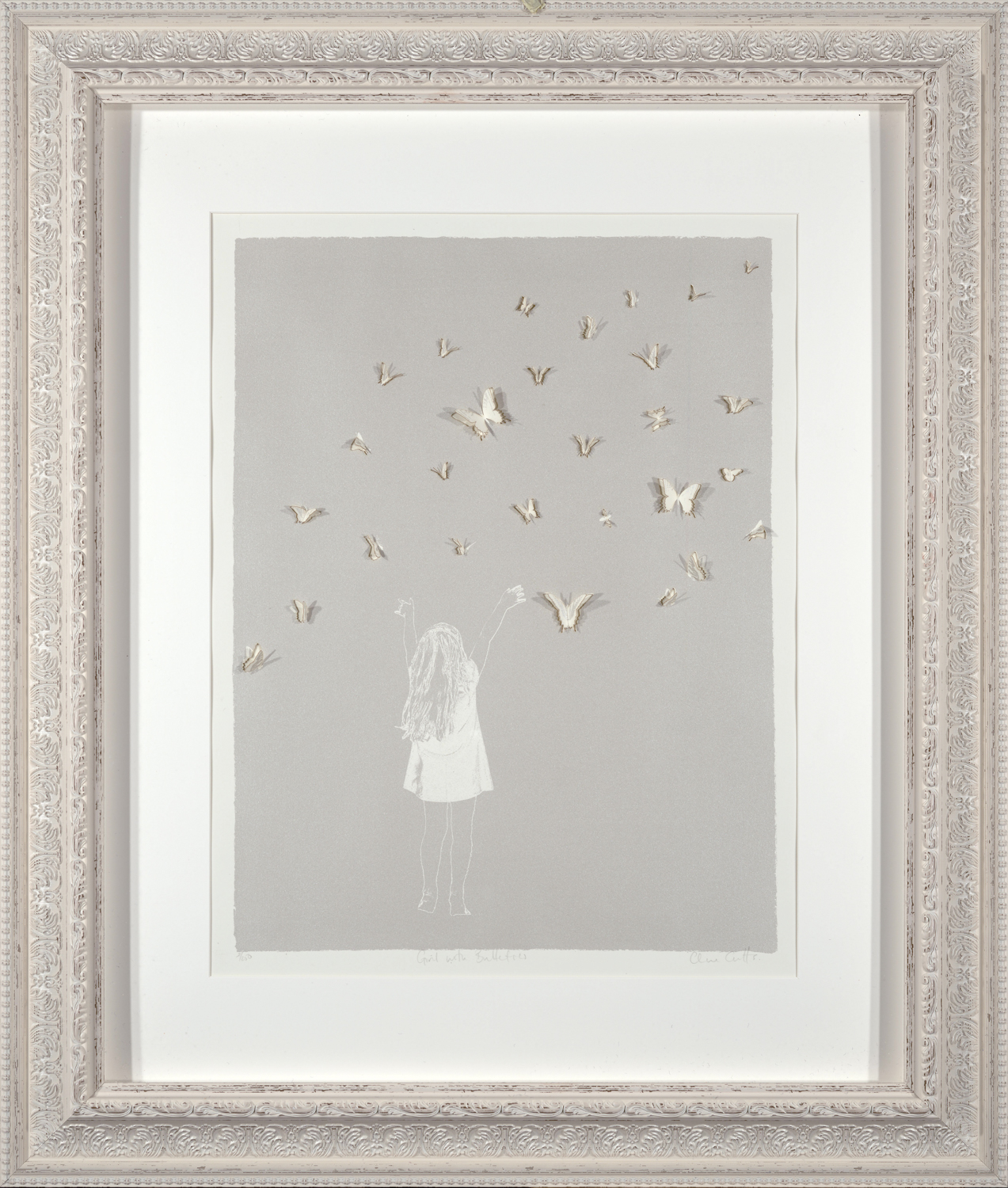 Girl with Butterflies by Clare Cutts