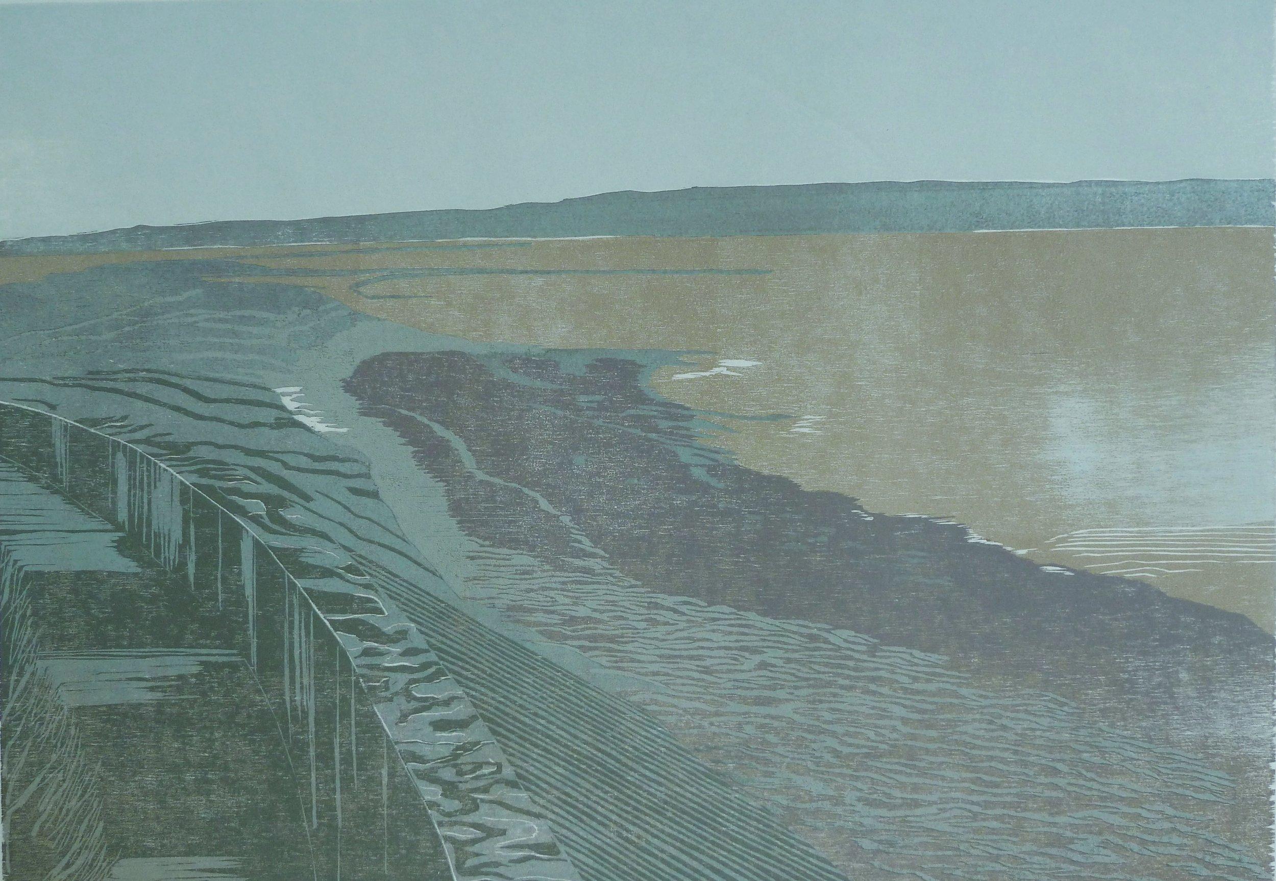 Estuary Wall by Martine Baldwin