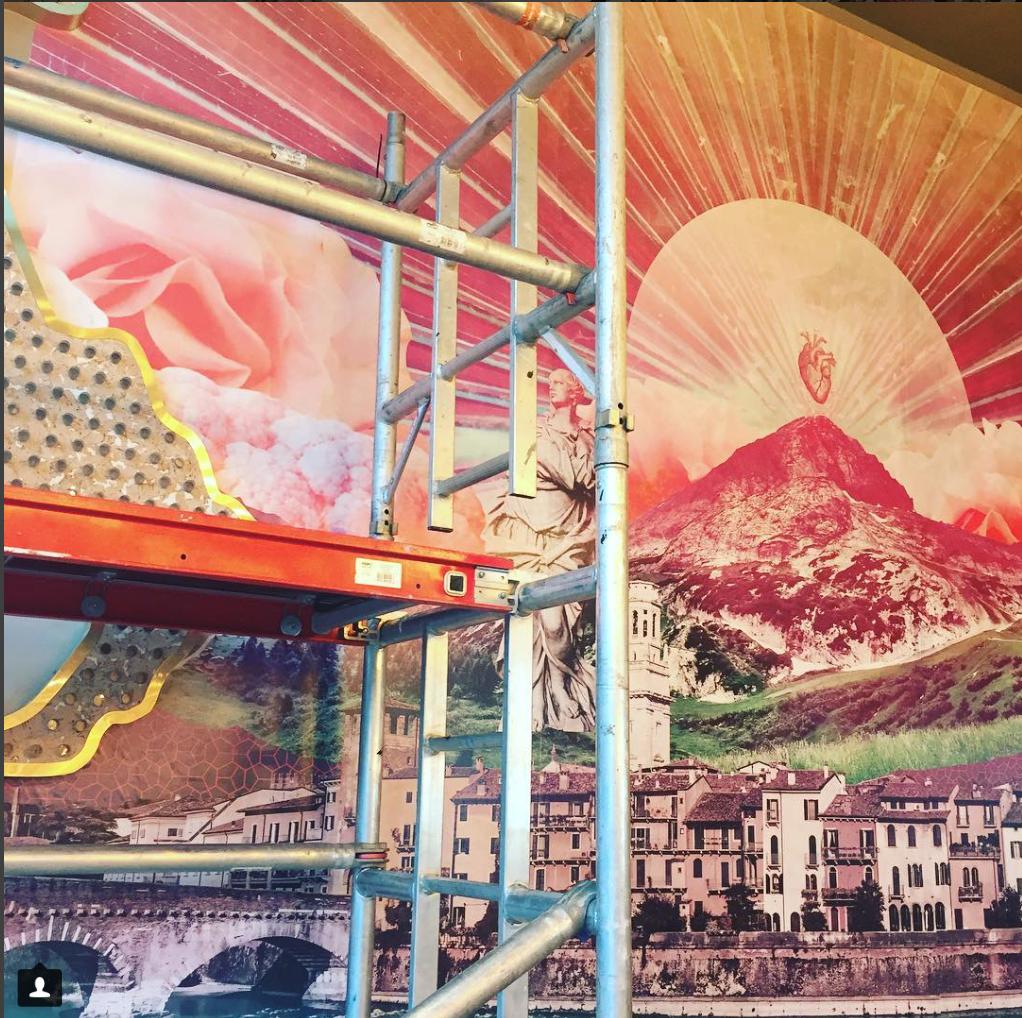Alexandra's mural for AskItalian restaurant