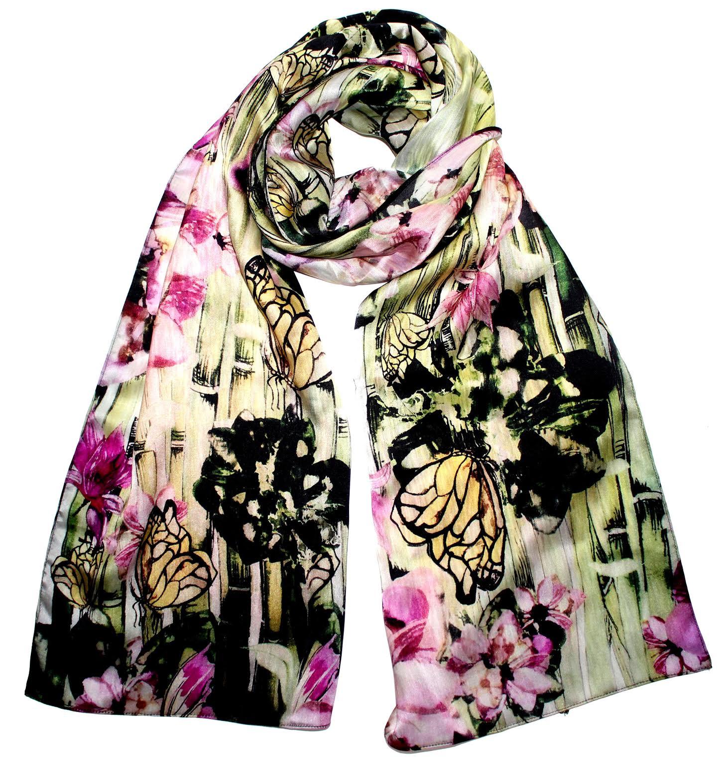 silk textile design by Laura Suthon