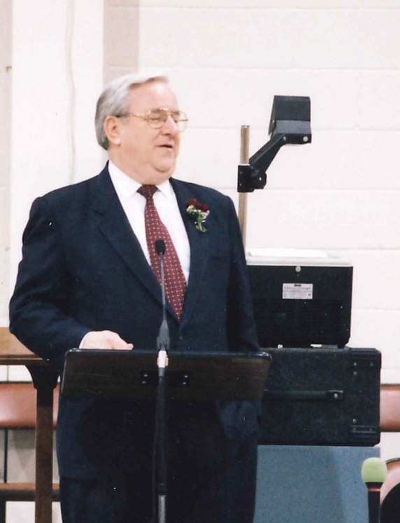 Jerry Falwell preaching at TTBC in 2000.