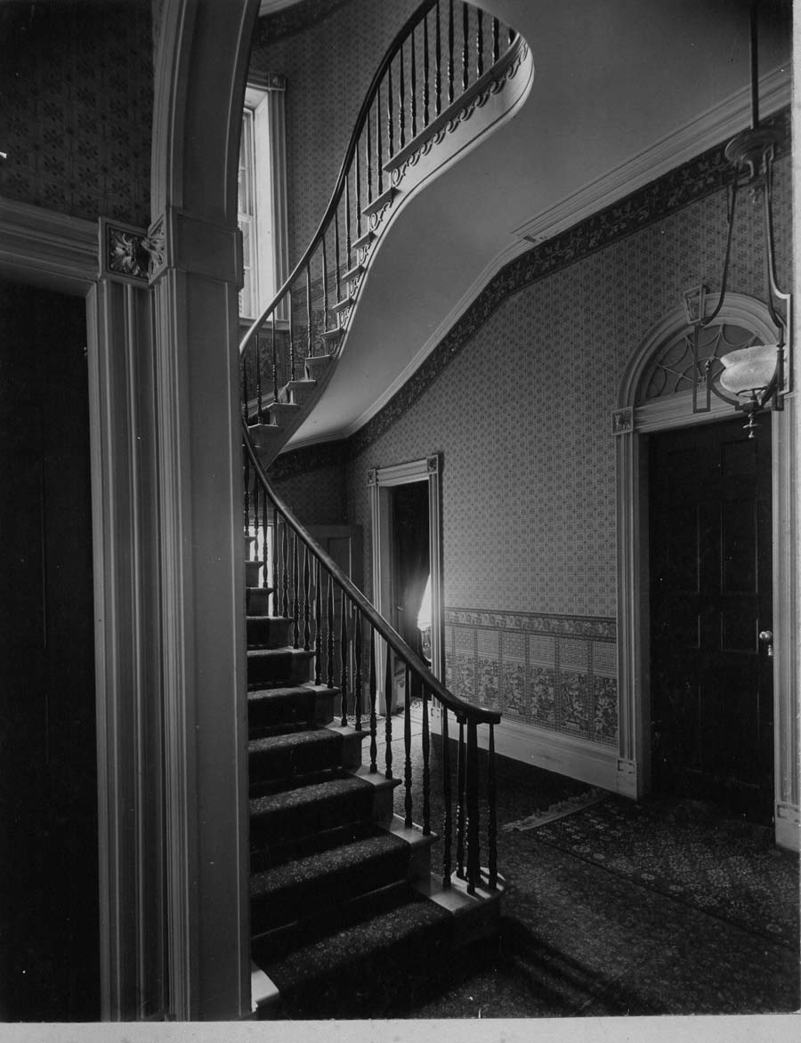 Front Hall of the Hart-Cluett House C. 1892