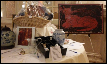 Some of the enticing Silent Auction items that winning bidders took home.