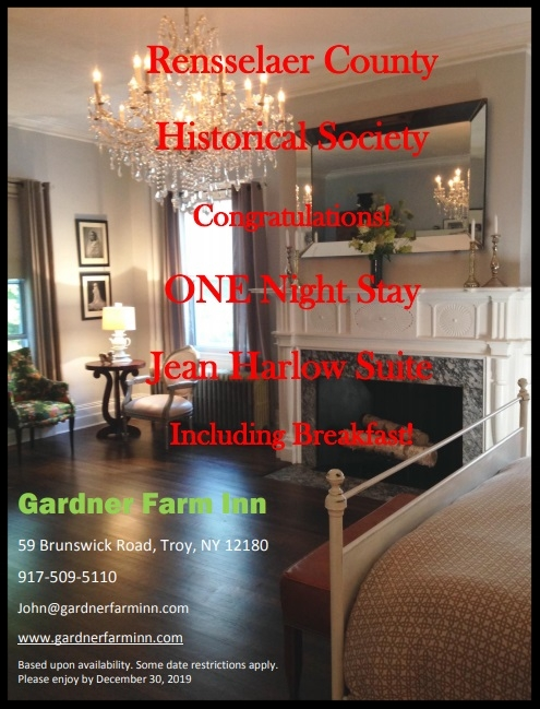 One Night Stay in the  Jean Harlow Suite  at the Gardner Farm Inn, including breakfast!