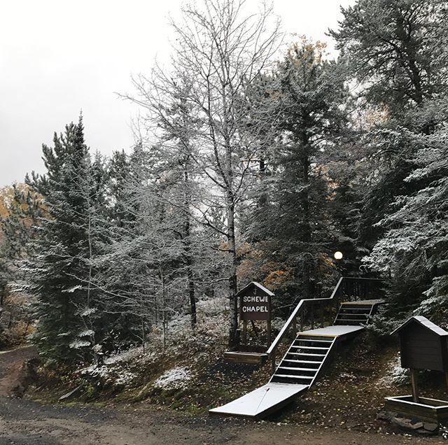 We got our first snowfall of the season! #seeyouatLV