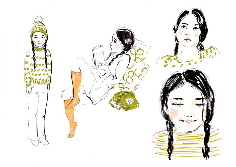 Primeros estudios de personaje