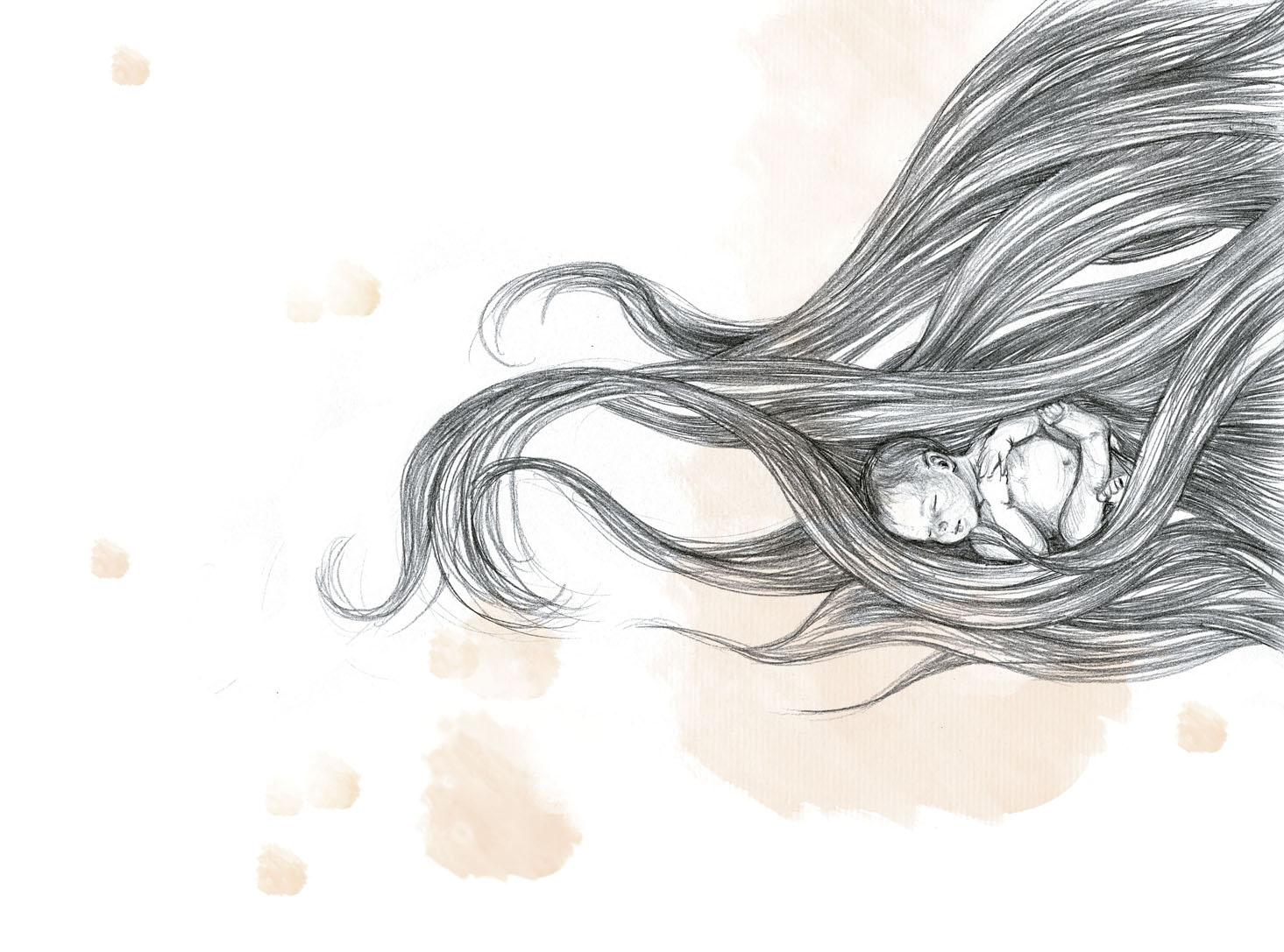 """Ilustración para """"Deseo"""", de Mar Benegas."""