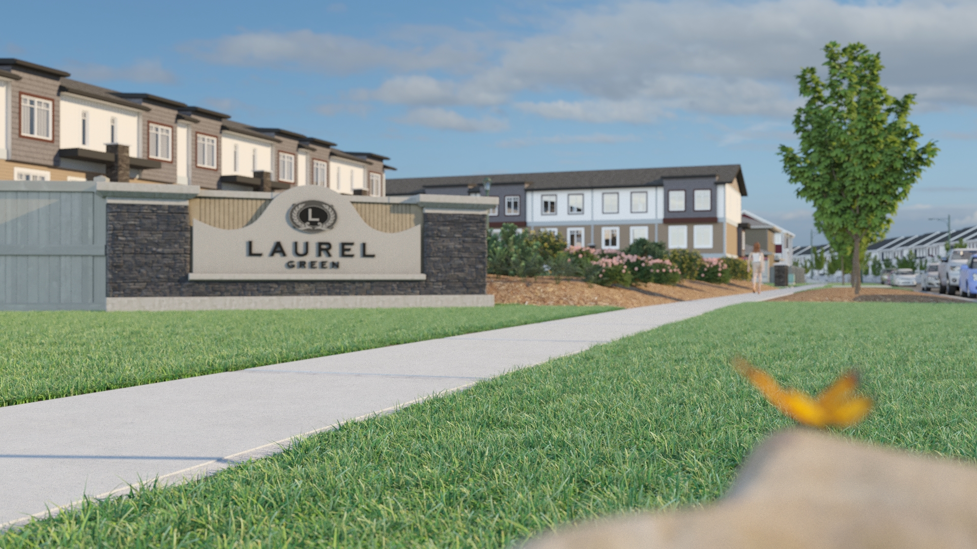 A virtual tour of Laurel green. This tour highlights the unique green way design. To see on the headset  click here .