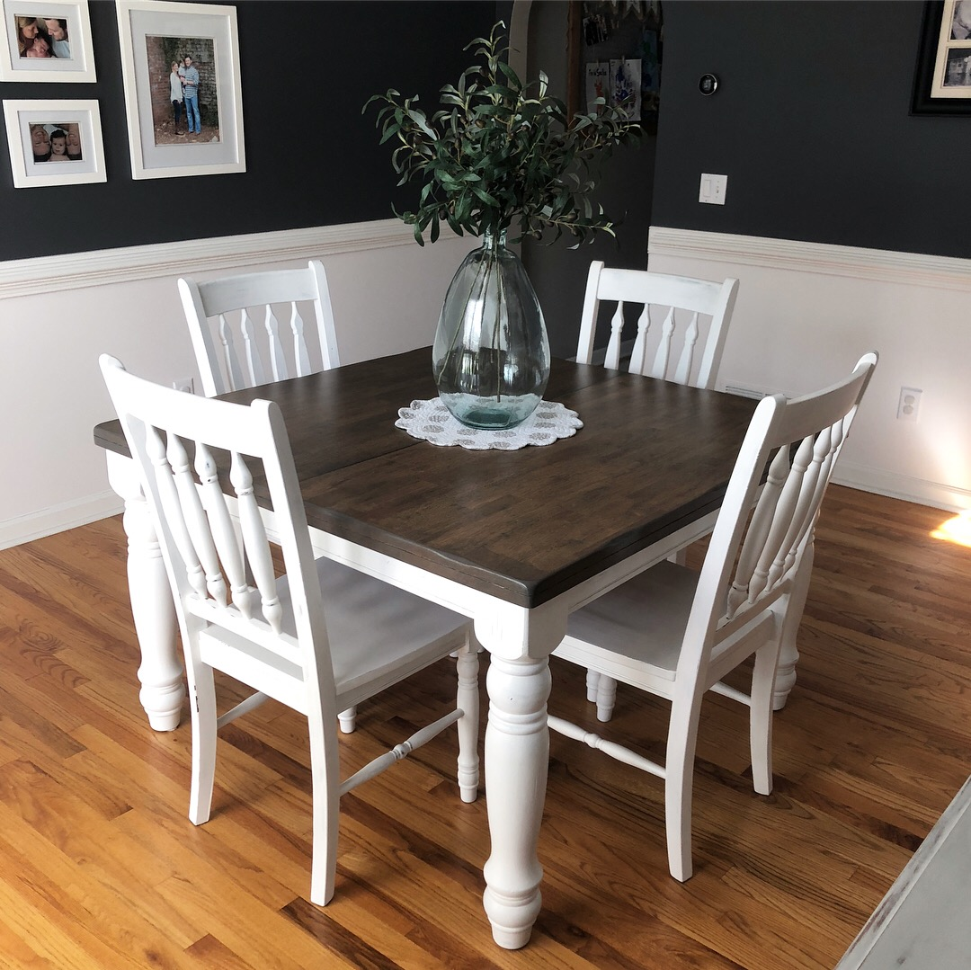My client's completed dining table and chairs